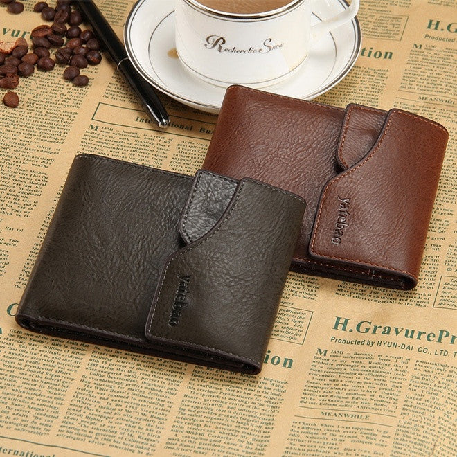 Men Wallets Casual man retro fashion trend Bifold purse multifunction card