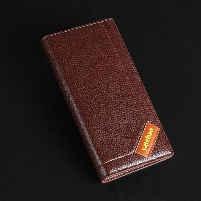 Men Wallets Man Long Purse Versatile Multi-card Genuine Leather Business Casual Wholesale Clutch Card