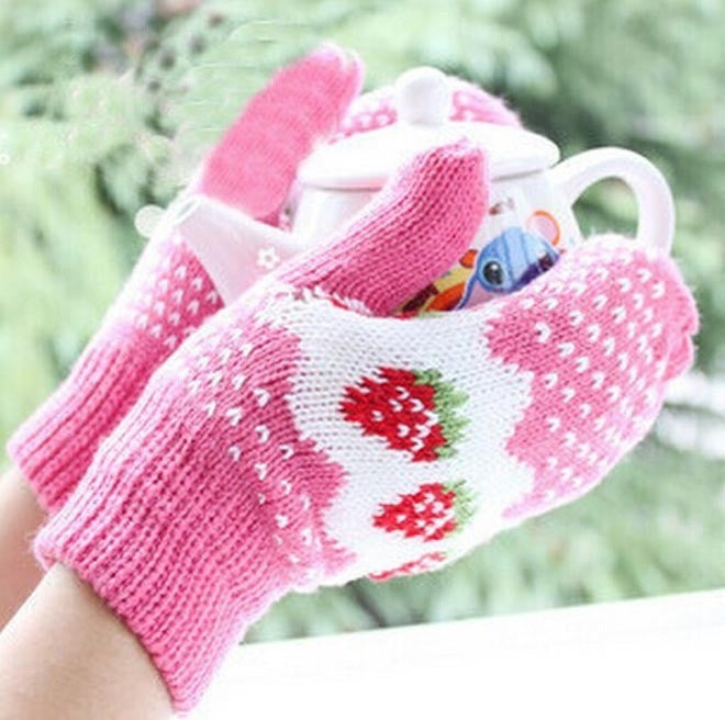 New Fashion Girls' Stretchy Soft Warm Winter Warm Full Finger female thick Halter Knit Women Gloves