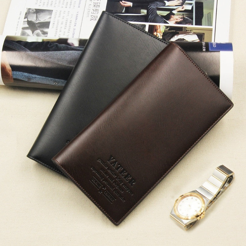 Men Wallets Long Design Purse High Quality PU Leather Coin Pocket Simply Style Wallet Purses