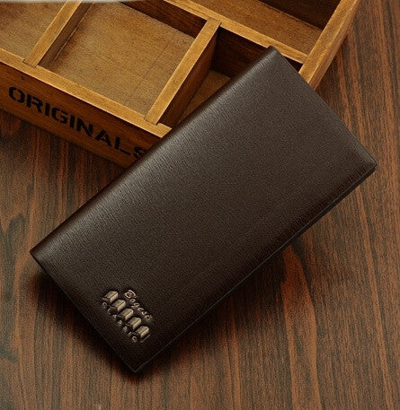 Men Wallets Long Design Fashion Purse PU Leather Coin Pocket Simply Style Wallet Purses