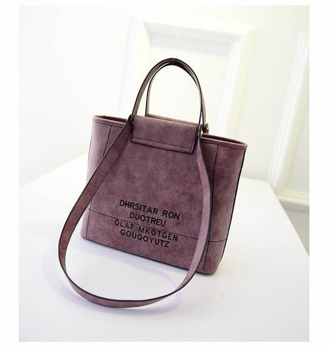 Women Shoulder Bags Autumn Winter Europe America Brand Ladies Handbags Frosted Letters