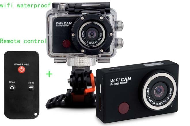 Extreme Action Wifi Sport Camera Waterproof 1080P Full HD mini DV IR Remote Controller Phone wifi control