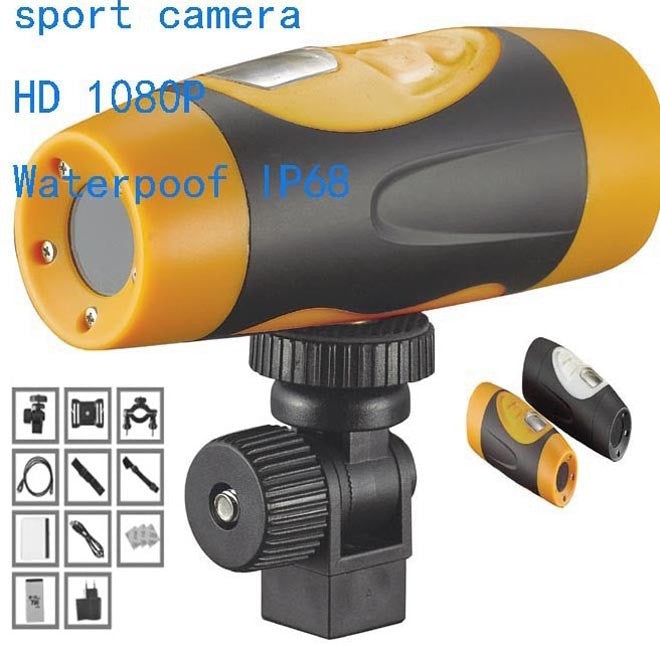 Sport Camera DV Video Action Full HD1080p Waterproof IP68 Professional Filmadora Helmet Bicycle Camcorder
