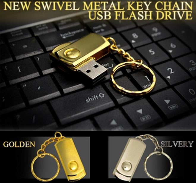 Swivel USB Flash Drive 64gb Stainless Steel Pen Drive 32gb u disk USB Flash Driver Metal Pen Driver Memory Storage Stick