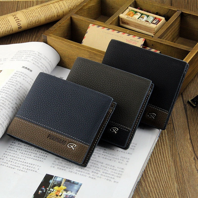 Casual Wallets New Men Short Design Purse Card High Quality PU Leather Simply Style Fashion