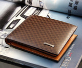 men wallets New designer fashion style genuine+PU Leather bag brand men wallets handbag purse