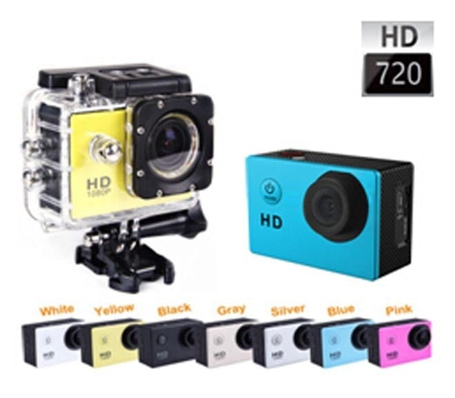 "Mini Action Camera SJ4000 Style 30M Waterproof Camcorder A8 720P HD Sports Camera 1.5"" Support SD To 32GB Multi Color 2015 New"