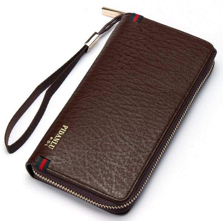 Creative Mens single zipper hand bag Korean version long wallet clutch bag hand bag factory direct explosion models