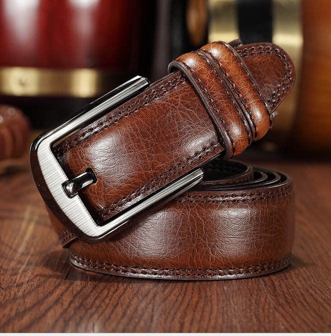 2015 new cowhide genuine leather belts for men brand Strap male buckle fancy vintage jeans cowboy cintos