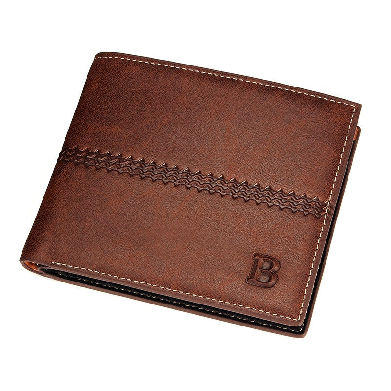 2015 New Wholesale original men casual short wallet soft genuine leather purse card coin pocket holder fashion