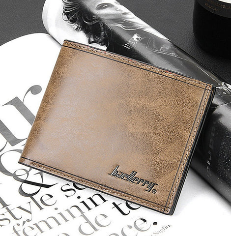 2015 Men Wallets short paragraph casual student personalized vertical cross section tide man purse Wallet Card Pack