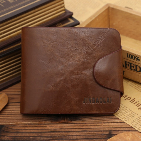 2015 New Purse wholesale antique gold snaps coffee walletmen's genuine leather wallets card holder package wbg01338