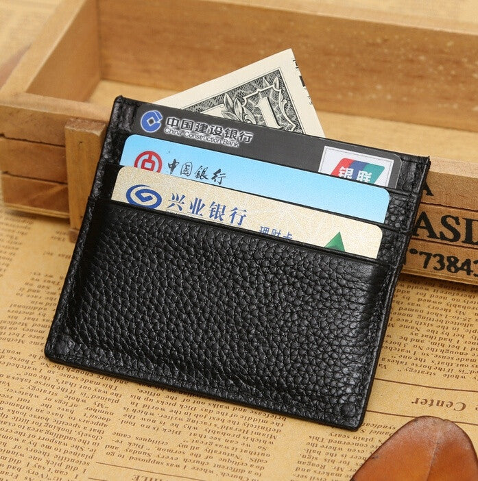 Customized gifts fashion change multi-card position pickup bag embossed first layer genuine leather documents folder