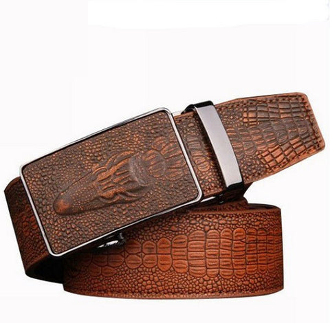 Fashion cow genuine leather belts for men strap male Crocodile automatic buckle men belt,cinto masculino