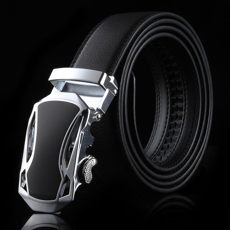 2015 Sports car head Automatic buckle belts Leather men belt High quality sports car belts for men