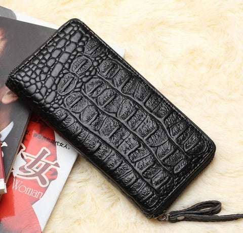 2015 Women Wallets Wholesale brand new ladies winter long purse zipper phone clutch crocodile lady card fashion