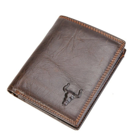 2015 New Men Short Wallet Genuine Leather Purses