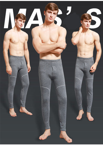 500G Winter plus men waist knee padded protect leggings warm trousers pants