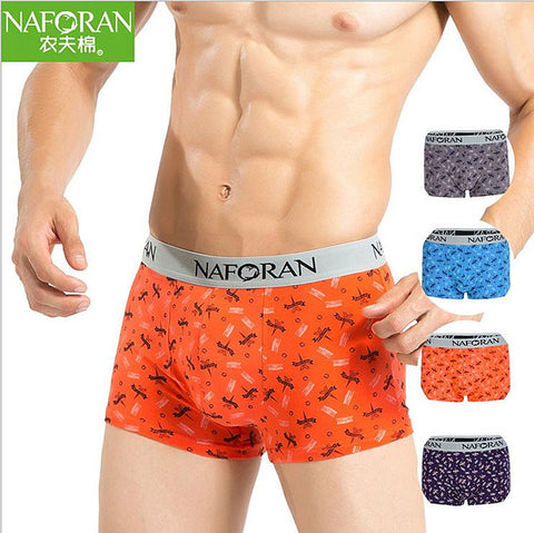 New Man Underwear Boxers 90% Lycra Cotton  Silk Feel High Quality 4p/Lot
