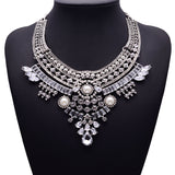 7 Style Rhinestone Pendant Alloy Jewelry Vintage Crystal Statement Necklace Maxi Necklaces & Pendants