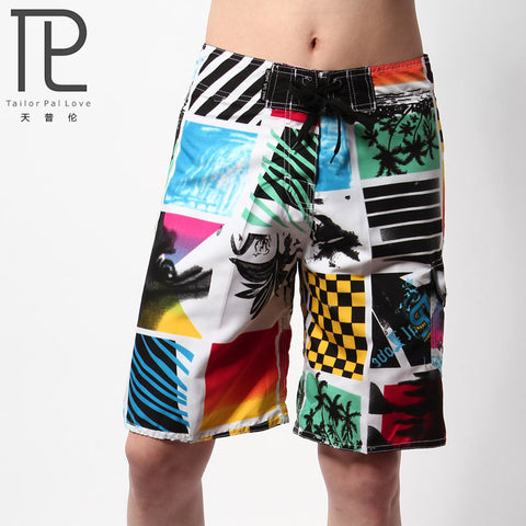 High quality summer short pants men's beach pants printed quick-drying big shorts exercise pants