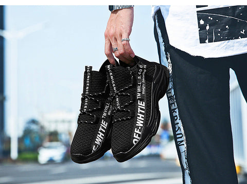 Man Sneaker Mesh Lace-Up Athletic Running Shoes