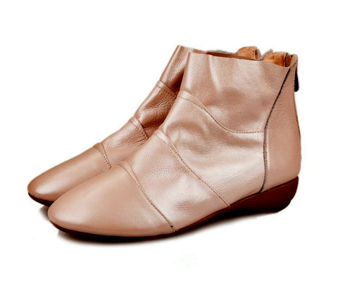 Lady short boot high Quality Leather women comfortable shoes