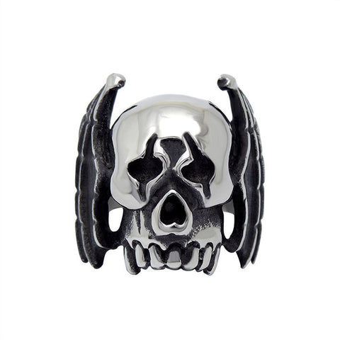 Amazing big ears skull ring prom necessary for man SA521