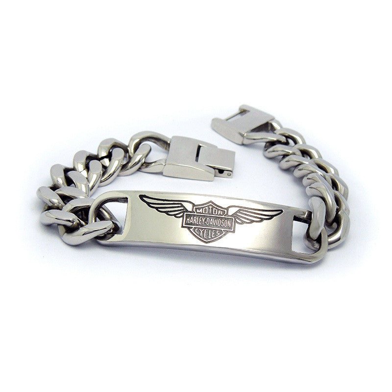 Angel wings single tag titanium steel jewelry bracelet influx of men necessary CE432