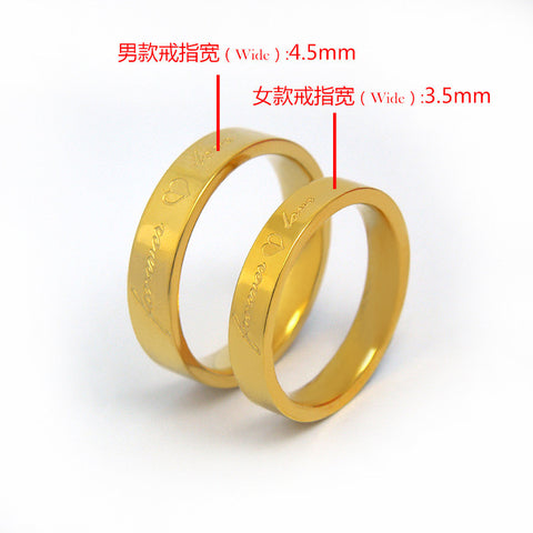 Boutique lovers love the ring Fashion titanium steel jewelry The spot female 4 8 number male