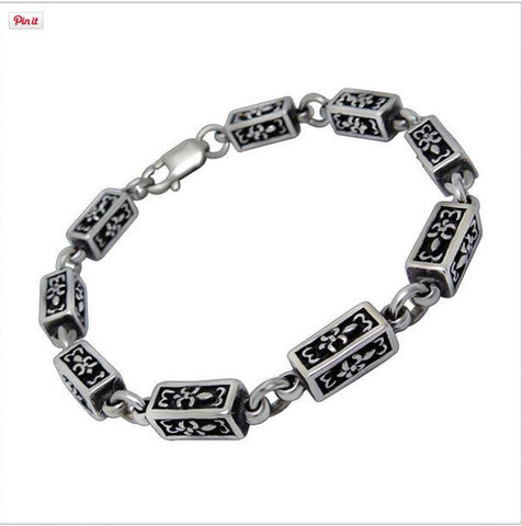 HOT  style unique scout flower solid geometry shape particles titanium steel bracelet necklace CE370