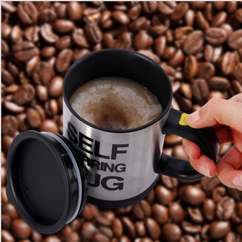 Creative Stainless Steel Automatic Electric Self Stirring Mug Coffee Mixing Drinking Cup - 350ml