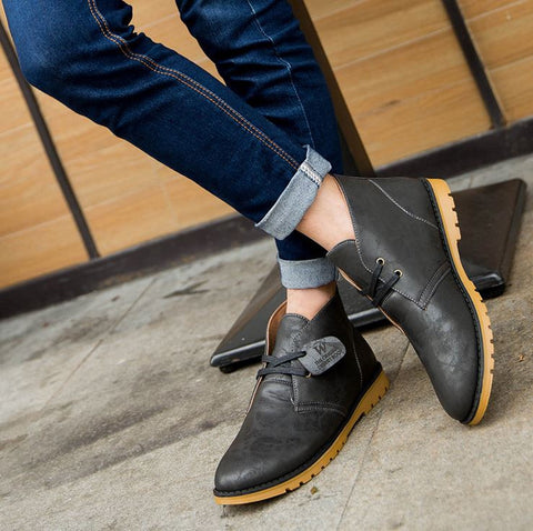 Classical Martens man casual shoes Pu leather man falts