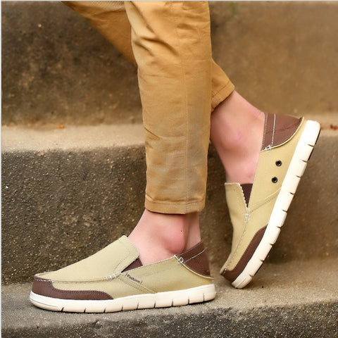 New Fashion Man Canvas Shoes Sneakers Breathable Rubber Sole  Casual Shoes High Quality