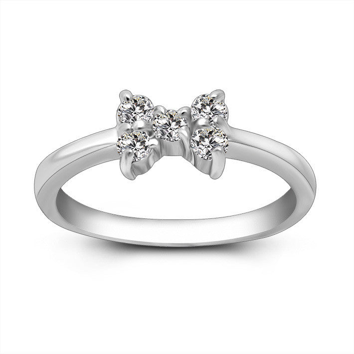 Classic delicate bow ring Exquisite fashion trends womens jewellery SA432