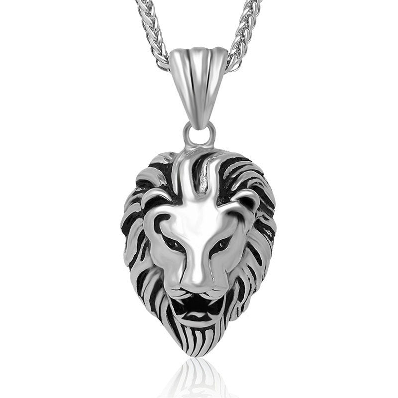 Classic personalized jewelry pendant health lion features titanium steel necklace Contain chains SP073