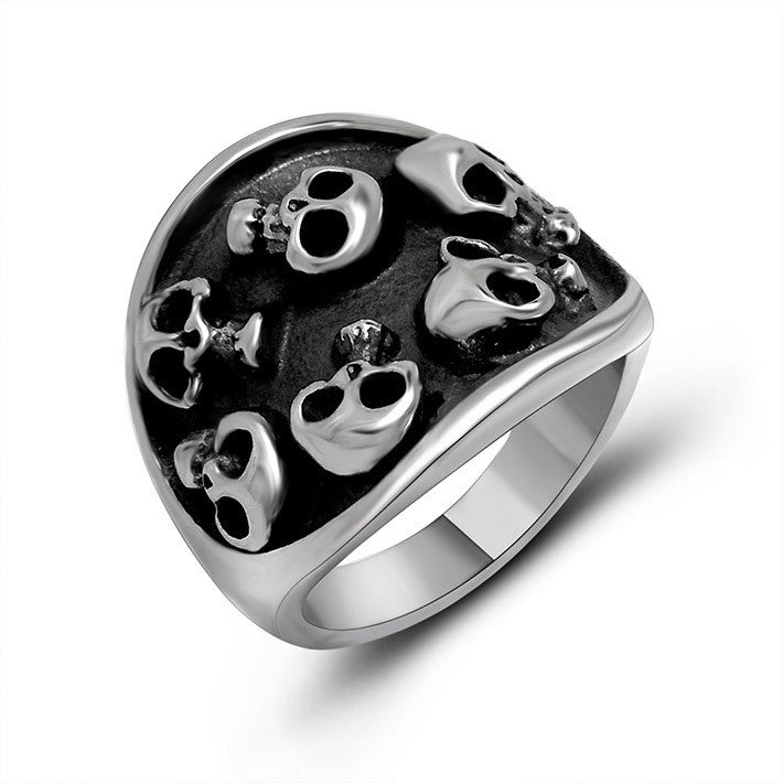 Classical elegance floating out a lot of skull ring SA386