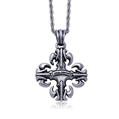Cyclone cross pattern pendant restoring ancient ways Clothing accessories Titanium steel jewelry including chain SP165