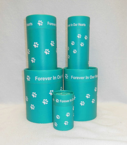 Eco-Friendly Cycle Scattering Urns Tube Keepsake BIO-01 Green Paws