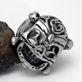 Dance lion personality tide restoring ancient ways ring chinese national wind titanium steel jewelry SA747