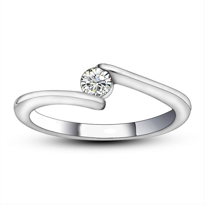 Dazzling shine fashion ladies engagement ring for personalized jewelry SA451
