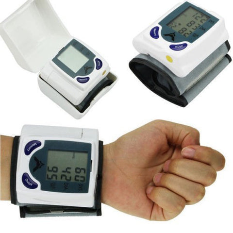Digital LCD Wrist Arm Blood Pressure Monitor With Heart Beat Rate Pulse Measure Health Care Monitors