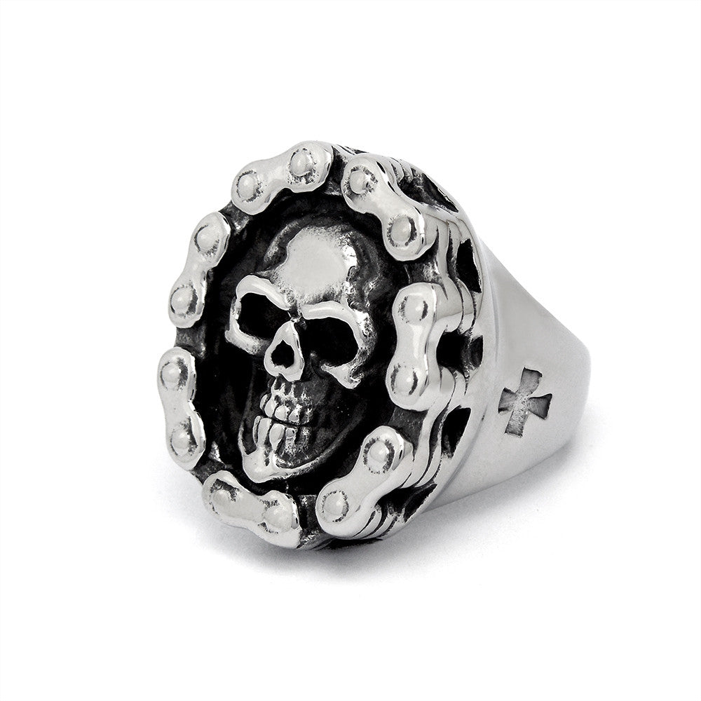 Dismay interlocking skull ring prom necessary SA514