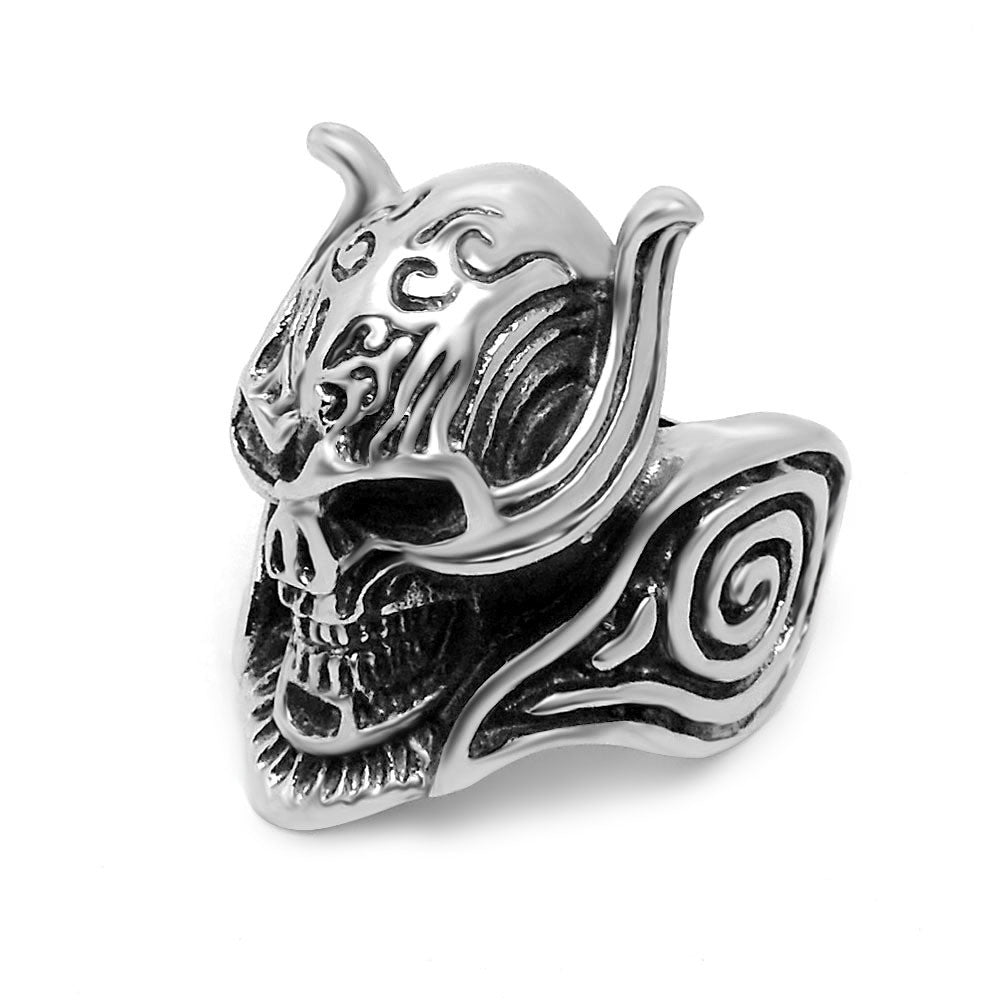 Domineering Wolf skull ring titanium steel man jewelry wholesale personality SA411