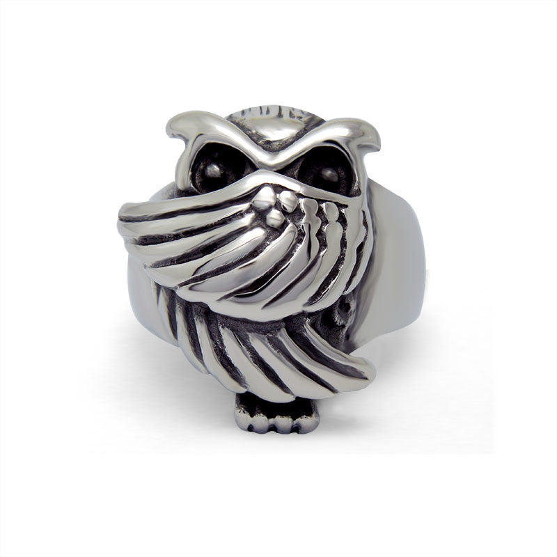 Down with the price trend of retro style retro cute Owl Ring SA525