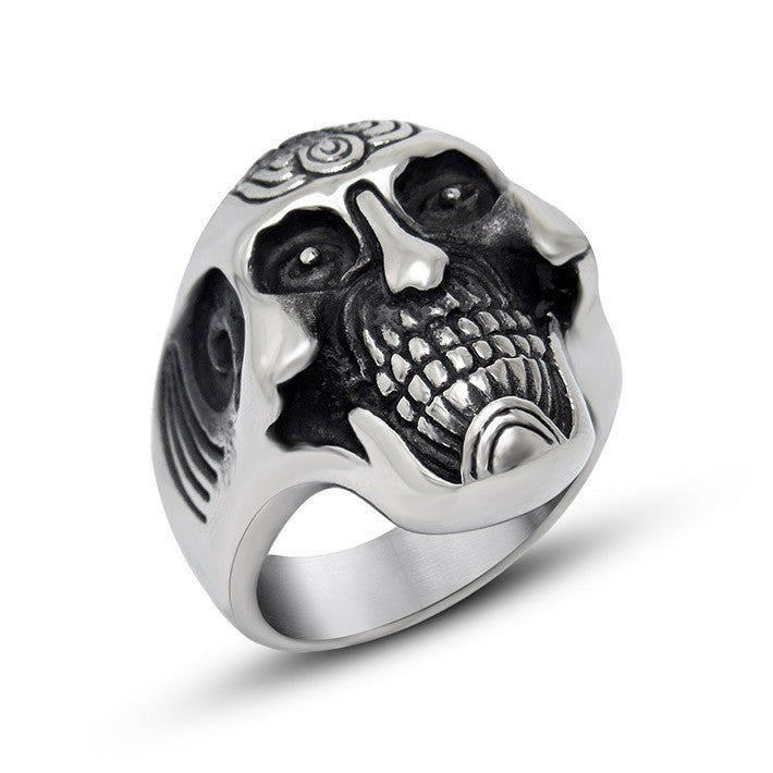 Especially Smile skull ring give you a different feeling SA619
