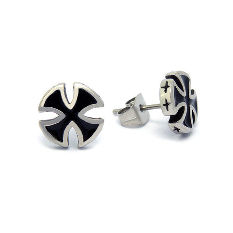 Fashion Single men titanium steel earrings black tide male models personalized jewelry earrings CF061