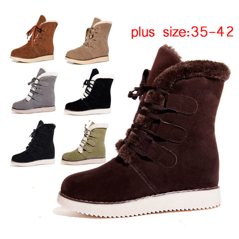 Fashion Women Boots Snow Botas Mujer Shoes Women Winter Boots Black Fur Boots For Women Snowboots