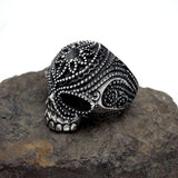 Fashion personality exquisite decorative pattern skull ring SA578